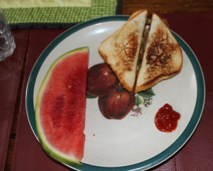 Pressed Toast and Watermelon