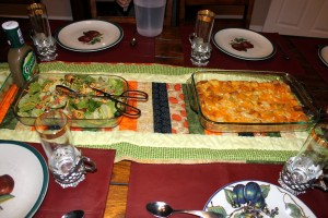 Egg Casserole and Salad