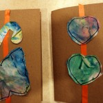 Fingerpaint and then Cut Shapes and Glue on Card