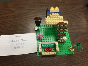 Indiana Jones and the skeleton by Abigail