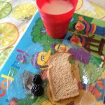 Milk, Blackberries and Bread like good rabbits