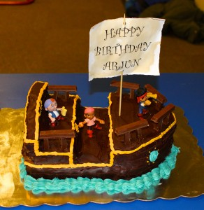 Bucky - Jake the Neverland Pirate Ship Cake for 4th Birthday