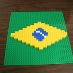 Kabir's Brazilian Flag with Legos