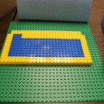 Arjun's Brazilian Flag with Legos