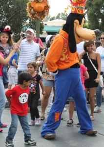 Kabir dancing with Goofy