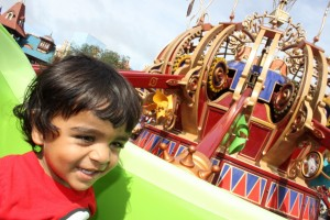 Arjun enjoying the ride