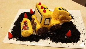 Backhoe cake for Arjun's 2nd Birthday
