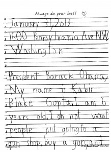Letter to President Obama - Page 1