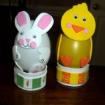 Easter rabbit and chick