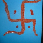 Swastik made with Sand