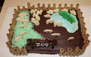 Zoo Cake for Kabir's 6th Birthday